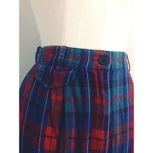 Vintage 1990's Talbots plaid skirt